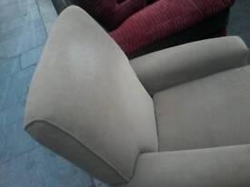 High back armchair on wheels