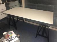 White Ikea large trestle table