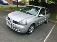 2006 Renault Clio Sport 1.2 petrol, 12 months MOT, Excellent service history with low mileage