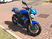 2013 Triumph Street Triple Low miles blue SP engineering exhaust heated grips seat cowl quickshifter