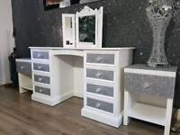 Dressing table, bedside cabinets full set