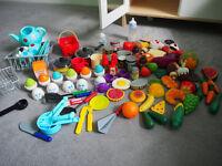 Children's IKEA kitchen with accessories.