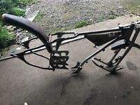 Speedway bike rolling chassis