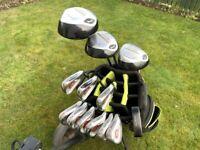 SLAZENGER Firesteel Golf Set, 3-9 + PW & SW. / Woods 1, 3, and 5 (Very Good Condition)