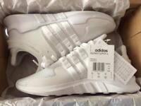 Adidas White EQT Trainers. (Brand New)