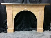 Antique Victorian Marble Arch Fireplace