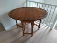 Stunning Carved Oak Sutherland Drop Leaf Oval Table C1900-1920
