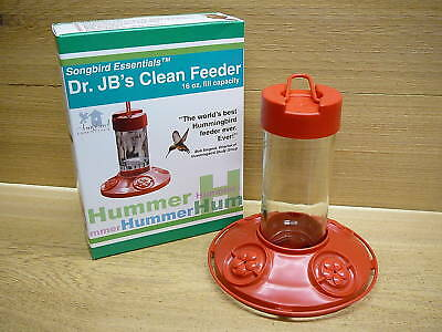 Dr. JB's Hanging Clean Hummingbird Feeder All Red 16oz Songbird Essentials
