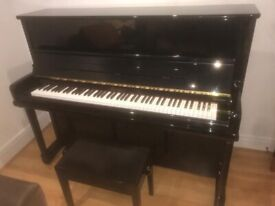 Classic Kemble Conservatoire Upright Piano with Black Ebony Gloss Finish