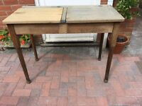 Oak double school desk.