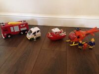 Fireman Sam Toys - Firetruck, Helicopter, ambulance and Boat £15