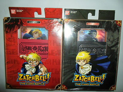 LOT 2 BANDAI ZATCH BELL THE CARD BATTLE STARTER DECK SETS #1 #2 TRADING CARDS