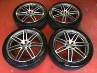 20'' GENUINE AUDI A7 S LINE RS4 ALLOY WHEELS TYRES ALLOYS A5 A6 DOUBLE SPOKE