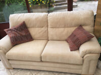 Cream Settee Immaculate Condition