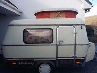 Vintage Eriba Puck 1988,pop top caravan. Hymer micro caravan.