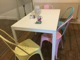 White Ikea dining table - seats 6
