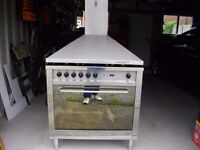 lofra 5 burner range cooker and extractor hood