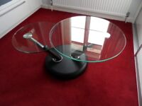 Tokyo Twist Glass Coffee Table, 6 months old, Excellent Condition