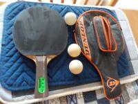 Dunlop, (Max Control bat ) case & 3 Balls
