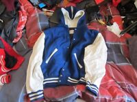 "Blue ""Sports Plus"" Award Jacket/Varsity/Letterman - MEN'S LARGE"