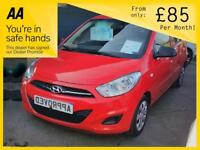 HYUNDAI I10 1.2 CLASSIC 5d 85 BHP Apply for finance Online today! (red) 2013