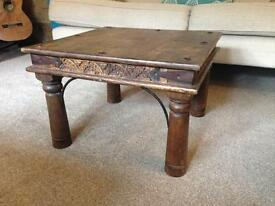 Indian Dark Rosewood Square Coffee Table