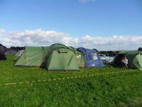 Vango Kasari 800 tent. 8 berth with additional set of poles, vango carpet & porch extension