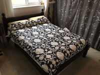 Double Bed, Stylish design, Pine painted Matt Black. Slatted Base. Can be dismantled for easy pickup