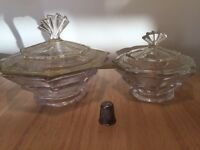 Striking pair of Art Deco dishes