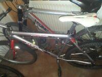 Mountain bikes x2 1 Viking and other a saracen very light bike