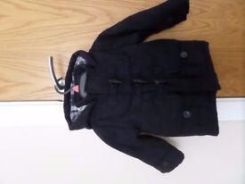 Junior J (Debenhams) Boys / Toddler Navy Blue Winter Duffle Coat Age 12-18 Months.