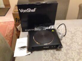 VonShef Single Hotplate
