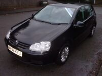 2008 Volkswagen Golf Match 1.9 TDI Diesel 5 Door Black FSH 12 Months MOT & 3 Months Warranty