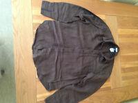 GAP Men's Brown Linen Shirt (large) (never worn)