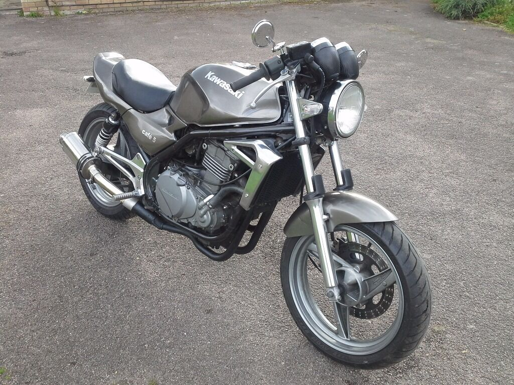 kawasaki er5 er500 cafe racer in bedford bedfordshire gumtree. Black Bedroom Furniture Sets. Home Design Ideas