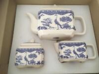 Collectible Wade teapot, sugar bowl and milk jug set.