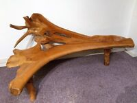 Solid Teak Root Furniture. Various benches and tables. End of line stock