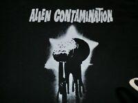 T-shirt, black, alien contamination print