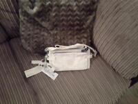 Small white Kipling shoulder bag