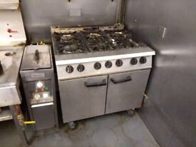 6 burner commercial gas stove oven