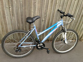 mountain bike light blue 21 gears