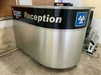 Workshop reception counter