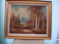 Lovely oil painting signed found in loft.{Foston}.