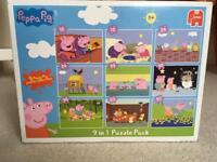 Peppa Pig 9 in 1 Puzzle Pack by Jumbo