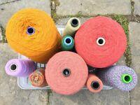 Job lot of coned yarns