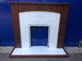Fire Surround with Hearth Wood Wooden Surround
