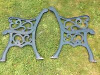 Vintage Cast Iron Garden Bench Ends Patio Seat Chair Ends