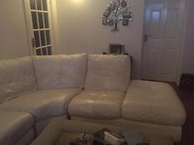Corner sofa with single chair. Good condition!