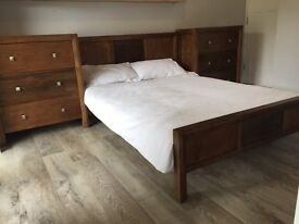 Bedroom Furniture - Double Bed & 2 Chests of Drawers