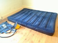 Camping Double Air Bed Excellent condition! Feels like a real bed! includes foot pump, repair kit!